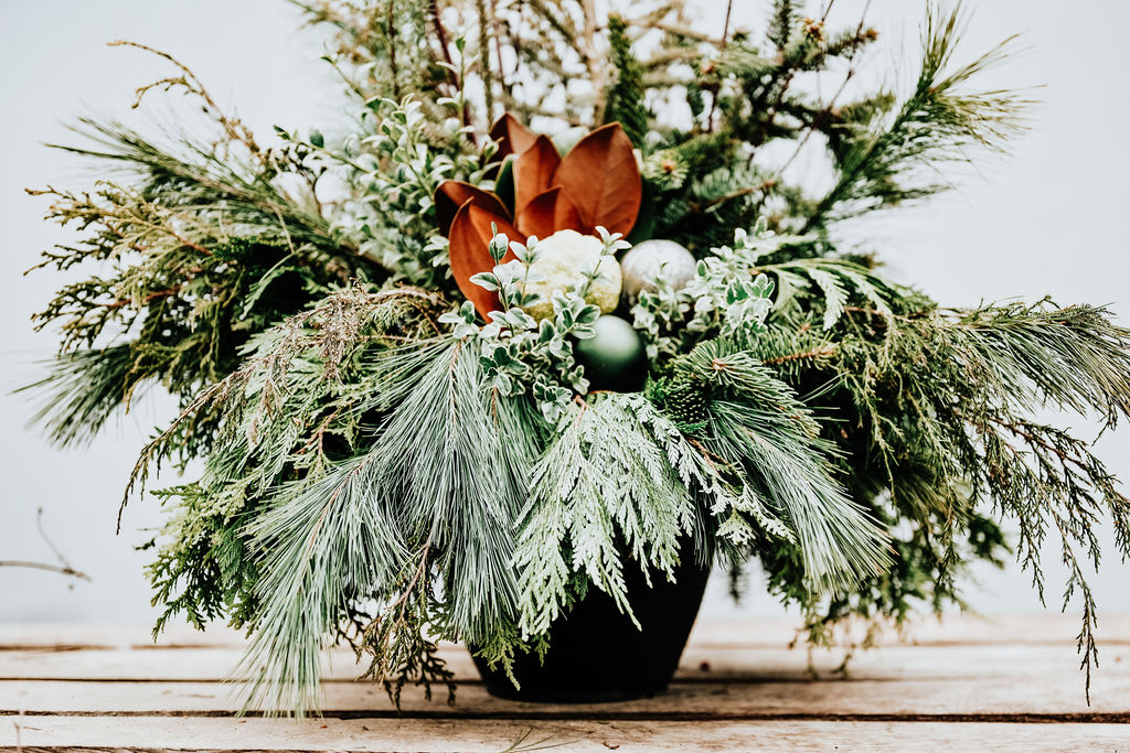 """Displays are provided in 12"""" or 14.5"""" liner pots that can be used by themselves or inserted into your own container or large, decorative urn."""